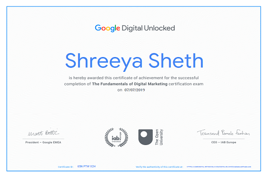 Shreeya Sheth Digital unlocked